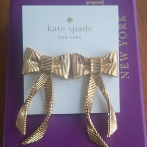 Kate Spade All Wrapped Up Gold Bow Earrings
